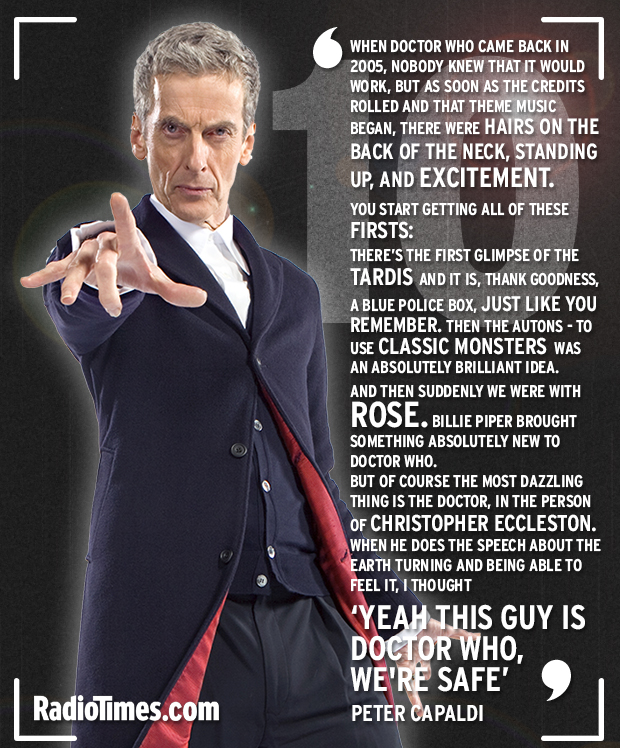 Peter Capaldi on the 10th anniversary of the return of Doctor Who