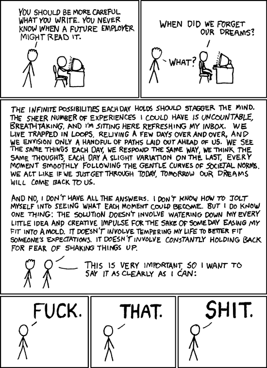 Dreams from XKCD
